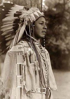 Umatilla Indian, 1910 By Edward S. Curtis. .