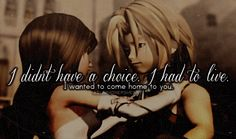 Final Fantasy IX | Zidane & Garnet Garnet: How did you survive… ? Zidane: I didn't have a choice. I had to live. I wanted to come ...