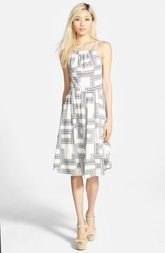 STOREE Open Back Midi Dress available at #Nordstrom