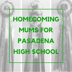 PASADENA HIGH SCHOOL HOMECOMING MUMS - Enchanted Florist Blog #homecomingmums
