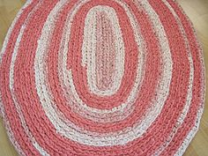 Crocheted Oval Repurposed Rug by fatcatvintage on Etsy, $115.00