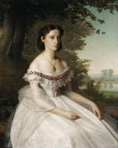 """Unidentified portrait, ca. 1862, circle of Franz Xaver Winterhalter. Private collection."""