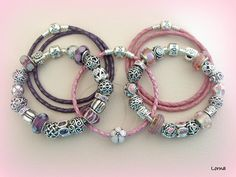 Beautiful pink and purple PANDORA bracelets! Thanks for sharing :) #MyPANDORA #PANDORAloves