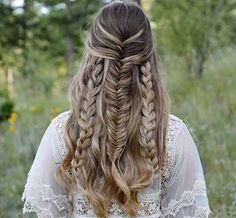 Half-up french fishtail by Jordan