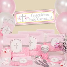 Shop Pink Blessing Party Supplies and save up to 50% off MSRP! Celebrate your little one's religious milestones with Pink Blessing Party Supplies.