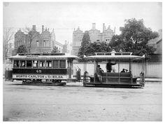 Melbourne cable tram 1905.