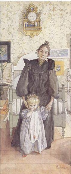 Carl Larsson - Karin och Kersti 1898