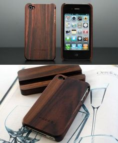wooden iPhone case: i have a similar red/maroon version of this