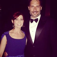 Carrie Preston and Joe Manganiello Joe Manganiello, True Blood, Preston, Carrie, Abraham Lincoln, Carry On, Actors & Actresses, Hand Luggage, Carry On Luggage