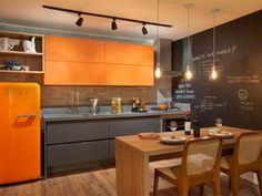 Cozinha vintage com spot de trilho - Laguna