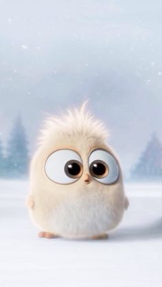 The adorable eyes Cute Gif, Wallpaper Iphone Cute, Kawaii Wallpaper, Bird Wallpaper, Cartoon Wallpaper, Disney Wallpaper, Cellphone Wallpaper, Angry Bird Movie, Angry Birds