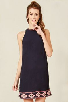 Neon Beads Dress from Haute Attitude #fashion #shift dress #style