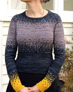 "cimness: "" (via Ravelry: Pixelated Pullover pattern by Jennifer Beaumont) "" Sweater Knitting Patterns, Knit Patterns, Fair Isle Knitting, Hand Knitting, Creation Couture, Pulls, Knitting Projects, Knit Crochet, Crochet Cats"