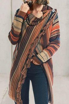Elegante mezcla de lana para mujer y hombre geométrico a Cuadros Abrigo Invierno Cálido Bufanda de Lana #Shawl