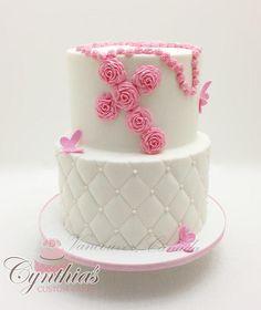 """8"""" – 6"""" All fondant cakes with fondant details TFL"""