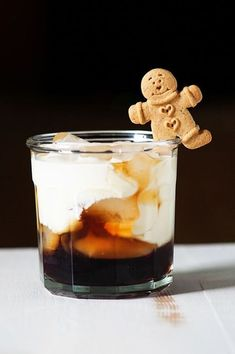 This Gingerbread White Russian is a great holiday twist on a classic drink. Made with Gingerbread Kahlua, liquor, Vodka, and chocolate.