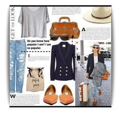 """""""Celebrity airposrt style"""" by dolly-valkyrie ❤ liked on Polyvore featuring Topshop, Clu, Forever 21, Steve Madden, Chiarugi, Pierre Balmain, Kate Spade and celebairportstyle"""