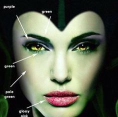 Gorgeous Maleficent makeup info-graphic, great last minute costume idea…