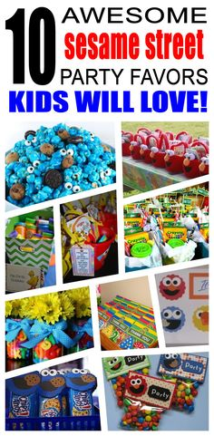 Great sesame street party favors kids will love. Fun and cool sesame street birthday party favor ideas for children. Easy goody bags, treat bags, gifts and more for boys and girls. Get the best sesame street birthday party favors any child would love to take home. Loot bags, loot boxes, goodie bags, candy and more for sesame street party celebrations.