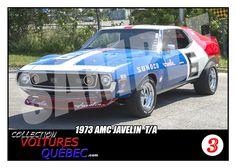 1973 AMC Javelin Trading Card- SCCA Racing Trans Am - Mark Donohue | eBay