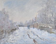 This work is one of 18 snow scenes painted near Monet's home in Argenteuil, north-west of Paris.Snow Scene at Argenteuil, Claude Monet Wassily Kandinsky, Monet Paintings, Impressionist Paintings, Landscape Paintings, Acrylic Paintings, Claude Monet, Pierre Auguste Renoir, Painting Snow, Snow Art