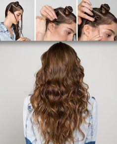 Mini Buns beach waves hair