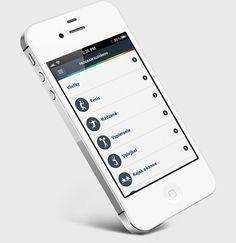 SOV iOS app UI List Design