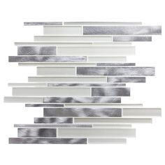 Capture the modern look of stylish linear glass and metal mixed, with this beautiful mesh mounted mosaic. This metal mosaic is perfect for your kitchen, bath, backsplash, or pool.