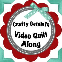 Crafty Gemini video quilt along. Learn how to create 12 different quilt blocks step-by-step and how to put the whole thing together all by yourself. Perfect for beginners!