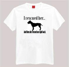 Rescued Dog T-shirt - Pi...