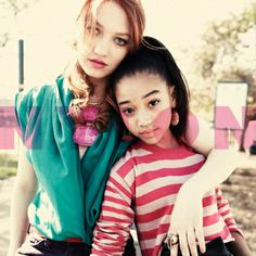 girl tributes-Jackie Emerson (Foxface) and Amandla Stenberg (Rue)