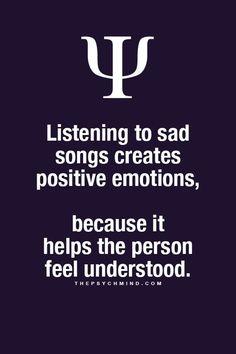 It feels great to feel understood