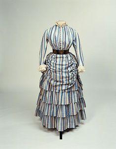 Cotton Tennis Dress, ca. 1884-86via Manchester Galleries