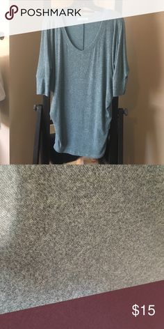 Blue slouchy super soft v neck sweater by karlie Super soft karlie Sweaters V-Necks