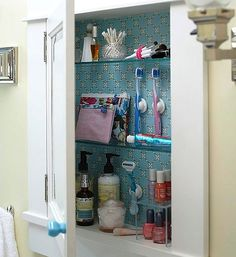 4 Easy Steps to an Organized Medicine Cabinet, read more here: http://movinginsider.com/2012/07/26/4-easy-steps-to-organizing-a-medicine-cabinet-summer-storage-organization-week-6/