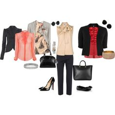 Business Attire- dressy to casual, created by emailmeannie on Polyvore