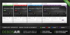 Debonair - Super Clean Web 2.0 Business Template