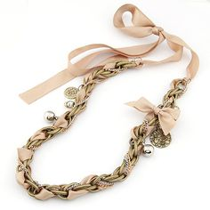 Колье-цепь Fashion Mark $ Adjustable Fabrics Sweater Chain&Collar Necklaces Jewelry For Women FM1583