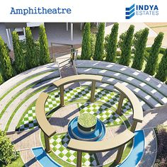 It is always a showtime when you have amphitheater in your society. #greens #greensproject #IndyaEstates #theater #amphitheater