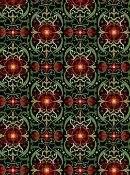 Winter Solstice Green/Red Medallion Lace (6JYA1); sold by the yard