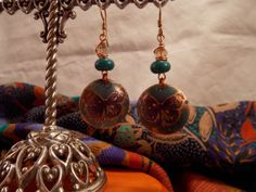 Copper Etched Earrings by BeJeweledbyKrista on Etsy, $32.00