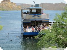 Explore many ecosystems on Arizona's Saguaro Lake via a narrated sight-seeing cruise