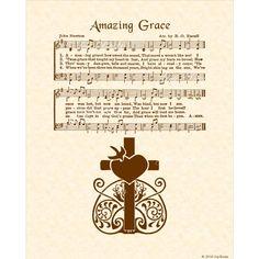 A personal favorite from my Etsy shop https://www.etsy.com/listing/198805936/amazing-grace-hymn-art-custom-christian