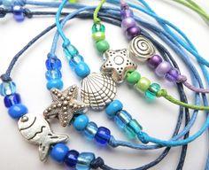 5 Armbänder Meerjungfrau Kindergeburtstag von ~*~ AINIKKIS KINDERREICH ~*~ auf DaWanda.com