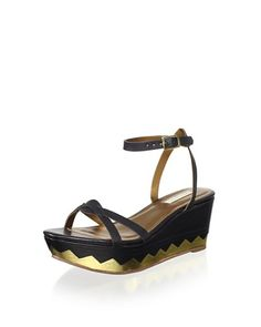 Cynthia Vincent Women's Maj Thin Band Flatform Sandal