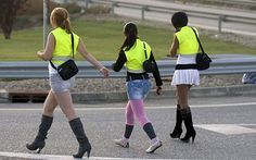 Prostitutes outraged over being ordered to wear reflective vests. Oh, first world problems...