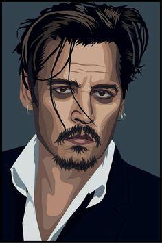 Vector Portrait, Digital Portrait, Portrait Art, Jack Sparrow Wallpaper, Portraits Illustrés, Arte Punk, Monochromatic Art, Inspiration Art, Portrait Illustration