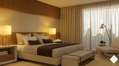 3D computer graphic image. Bedroom Interior Design. I composed a neutral…