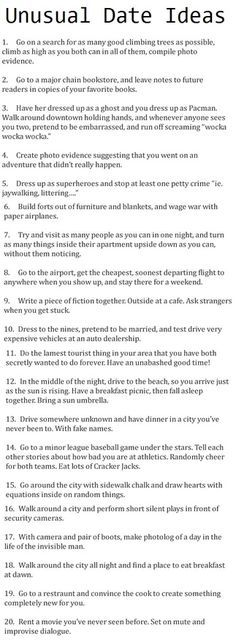 Cute unusual date Ideas, I seriously love this. It would be a blast! I may have pinned before, but just in case! This Is Your Life, In This World, Romance, Look At You, Just For You, Unusual Date, Unusual Things, Cute Date Ideas, Fun Ideas
