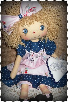 Annie in navy and pink by charmingsbycmh